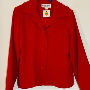 Michael Kors Jackets & Coats - Vintage Michael Kori Red Biz Blazer